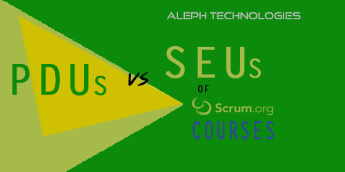 All About PDUs vs SEUs of Scrum.org Courses