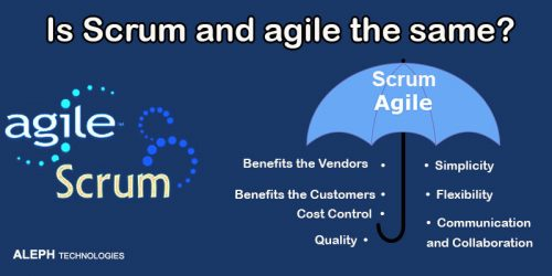 Is Scrum and agile the same?
